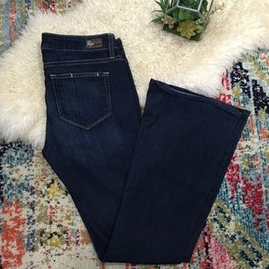 Paige jeans canyon boot size 28 dark wash 33x31