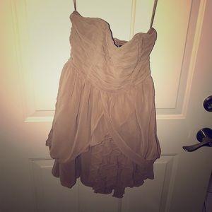 Tan cocktail dress