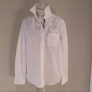 J Crew Shirt with Bead Detailing