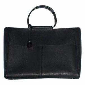 Gucci Vintage Bamboo Black Leather Satchel / strap