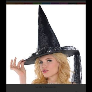 Accessories - Halloween costume witch hat