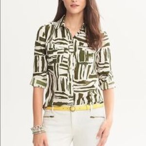 Banana Republic Heritage Safari Blouse