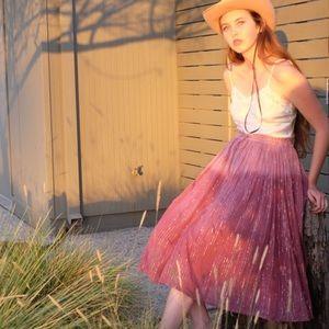 Vintage Lurex Dip Dye Skirt, soft Indian cotton