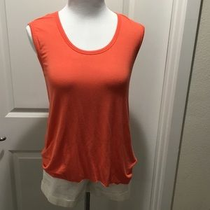 3c93af9344219b Bailey 44 Tops - Bailey 44 Coral Orange sleeveless top lace back M
