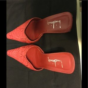 Red high heel mules...3.5 inches - Size 10