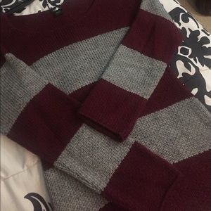Rue 21 Dresses - Gray & Maroon knit dress
