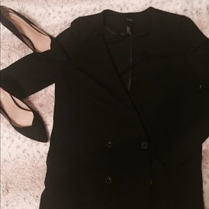 Black Buttoned Blazer (Forever 21)