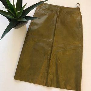 New Gap Genuine Leather Pencil Skirt