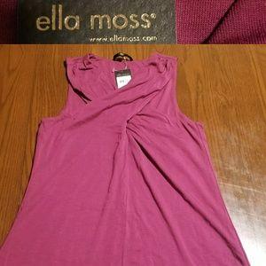 Ella Moss criss cross Wine tank NWT XS