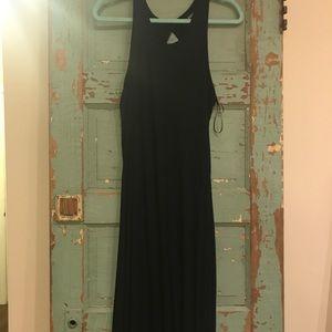 Floor length blk dress