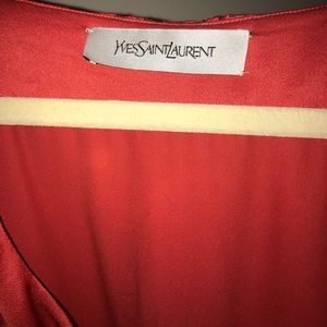 Yves Saint Laurent Dresses - Yves Saint Laurent silk red dress