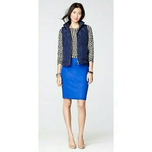 J. Crew Pencil Skirt Textured Double-Serge Cotton