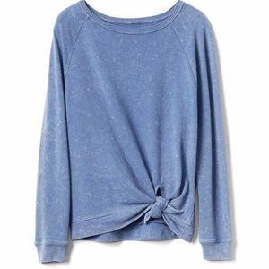 Gap tie knot sweatshirt blue size medium