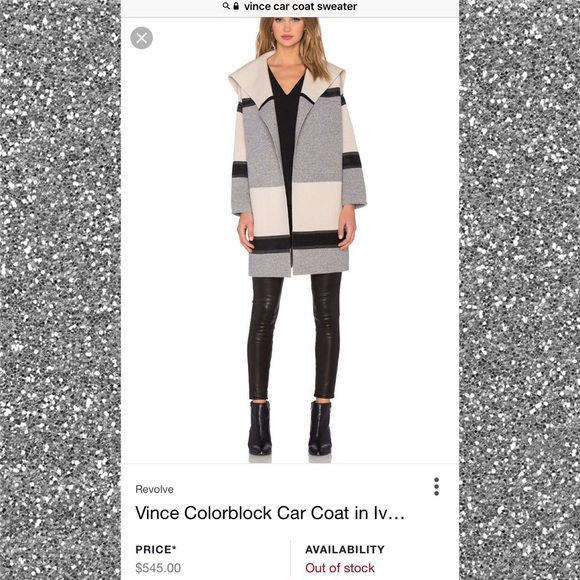 45717c7d1341 Vince Colorblock Wool   Cashmere Knit Car Coat. M 59eeaf81680278bea200ba9a