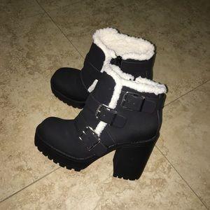 Sherpa Lined Platform Boots