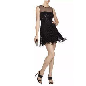 NWT BCBGMaxAzria Melly Fringe Dress $428 Sz 6