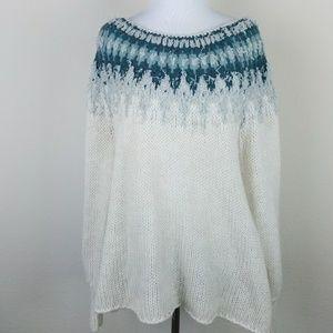 Free people wool knit sweater size small