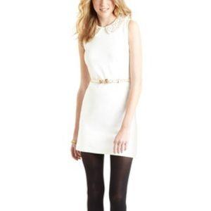 White Vivienne Tam Minidress with Beaded Collar XS