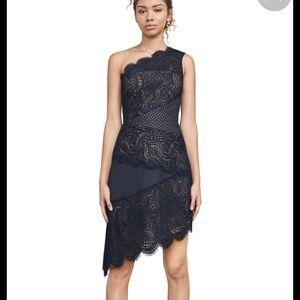 BCBG Maxazria Alisha one shoulder dress
