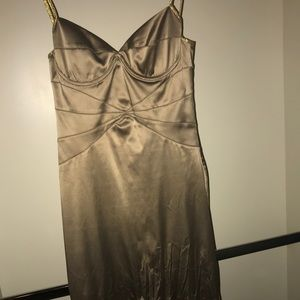 Silk gold Roberto Cavalli mermaid tail dress