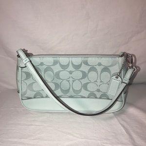 Coach seafoam small handbag/wristlet