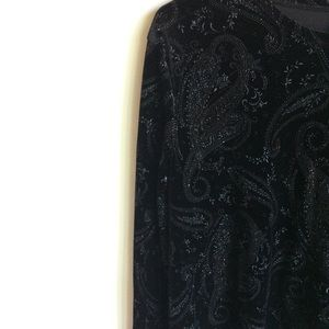 White Stag Tops - White Stag Black Rhinestone Top. Sz XL 3/$30