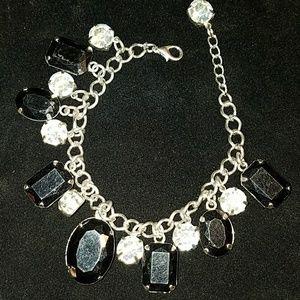 Jewelry - Black & Clear Rhinestone Bracelet