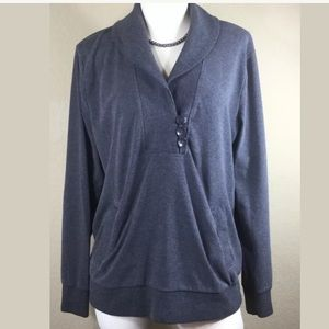 Banana Republic Gray Sweatshirt, Size XL