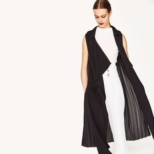 NEW Zara Pleated Flowing Gilet/Vest