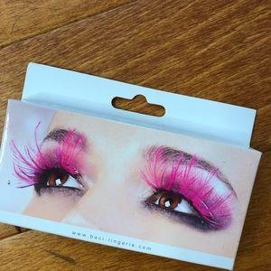 Baci lingerie Halloween dress up pink eyelashes
