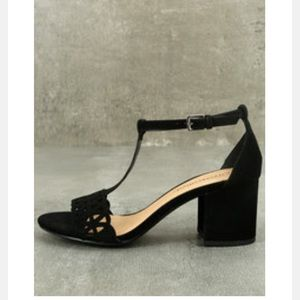 Janessa Black Nubuck Heels *NIB*
