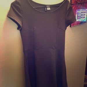 Olive green, short sleeved simple dress from H&M