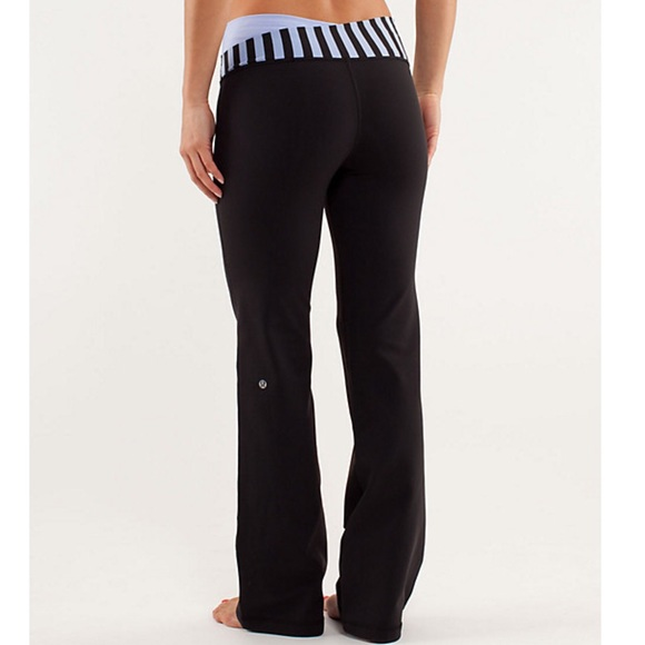 32564ffaa5 lululemon athletica Pants - Lululemon Black Yoga Pants Lavender Stripe Band