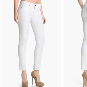 • PAIGE • skyline skinny white ankle jeans