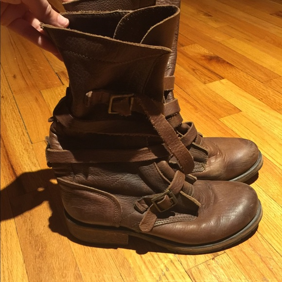 b9005c7a4be Brown Leather Steve Madden Boots Banddit Boots. M 59eeb25ef739bc837100cf0d
