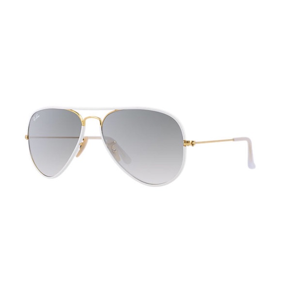 Ray-Ban Accessories | Rayban White Frame Aviator Sunglasses Small ...