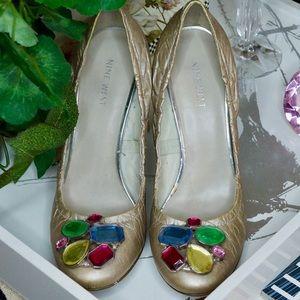 Nine West Jeweled Toe Heel