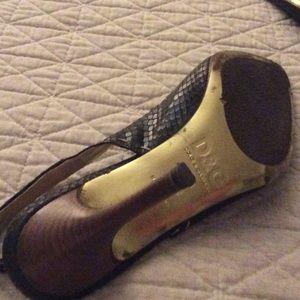 D&G snake skin sling back