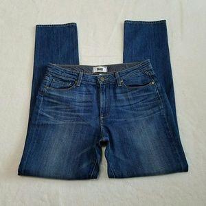 Paige Womens 29 Denim Pamela Straight Blue Jeans