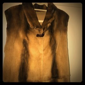 Royal mink real Chinchilla fur vest jacket :(