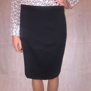 J. Crew No. 2 Pencil Skirt in Wool, Black, Size 6