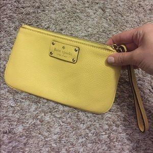 Kate Spade Wristlet Yellow