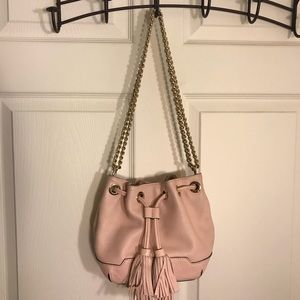 Pink bucket bag by Rebecca Minkoff