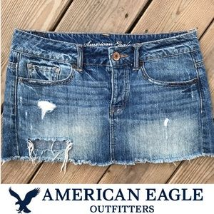 American Eagle Distressed Ripped Mini Skirt 2