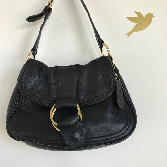 4776d927ff Chaps Handbags - Sale🍁 Ralph Lauren Chaps Black Leather Hobo Bag