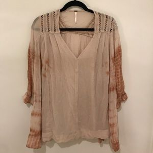 Free People Tie-Dye Blouse Size Large