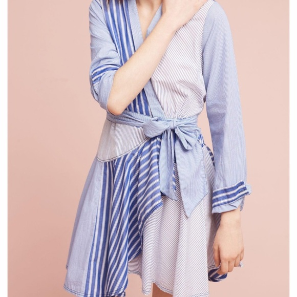 93919791f55  Anthropologie  NWT Newport striped shirtdress