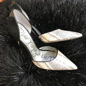 Sam Edelman Delilah Snake skin heel!