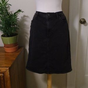 Gap 1969 Black Stretch Denim Black Skirt