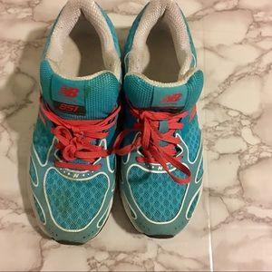 New Balance Running Shoes Used Blue Orange